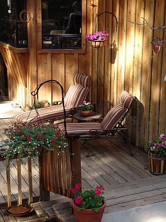 A view of our tranquil deck and 